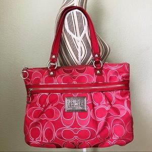 Coach Poppy Red Tote #G1067-15389
